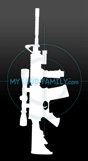 Stag Arms AR15 Large Scope ForeGrip Decal Sticker