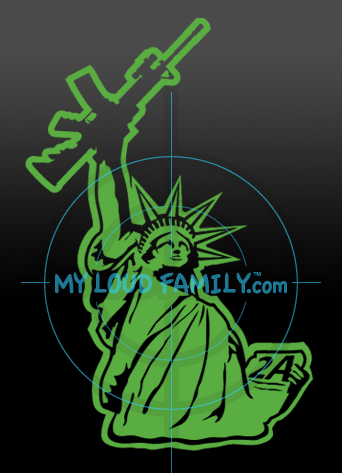 Statue of Liberty with AR15 Original Decal Sticker