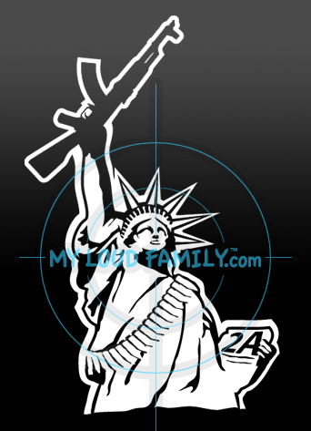 Statue of Liberty with AK Decal Sticker