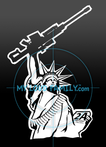 Statue of Liberty with Barrett .50 Decal Sticker