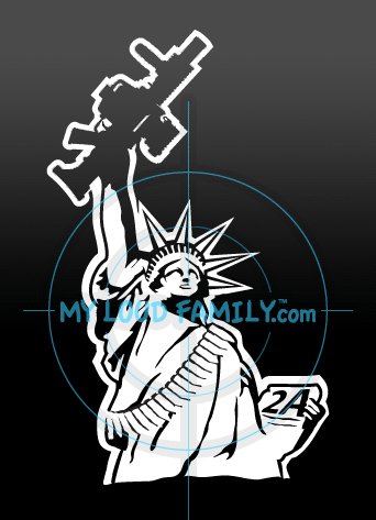 Statue of Liberty with M32A1 Grenade Launcher Decal Sticker