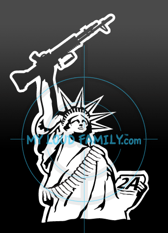 Statue of Liberty with M60 Decal Sticker