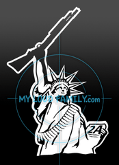 Statue of Liberty with Shotgun Decal Sticker