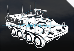 Stryker Top Side View with Details Decal Sticker