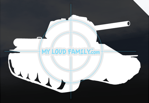 T34 Tank Decal Sticker