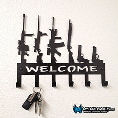 The Gun Family Key Holder - Welcome