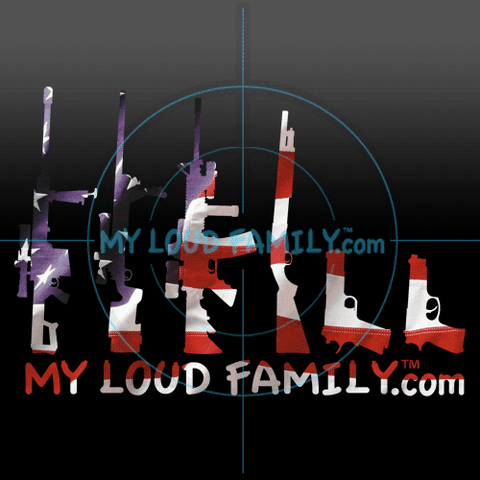America Flag Gun Family Decal Stickers