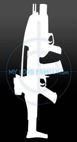 XM8 Carbine with XM320 Grenade Launcher Decal Sticker