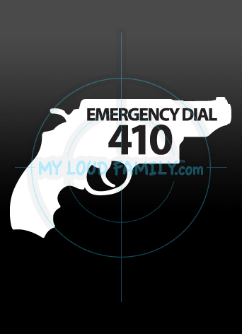 Emergency Dial 410 Decal Sticker