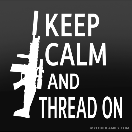 Keep Calm and Tread On Decal Sticker