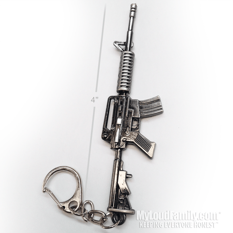 M4A1 Assault Rifle Metal Keychain