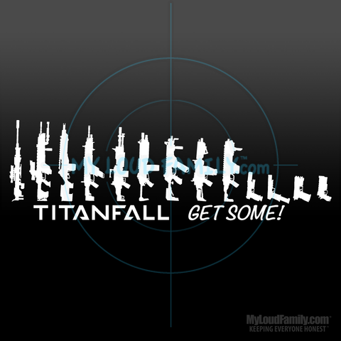 Titanfall Gun Family - Pilot Primary & Sidearm Weapon Decal Stickers 01