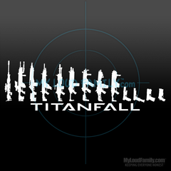 Titanfall Gun Family - Pilot Primary & Sidearm Weapon Decal Sticker 04