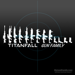 Titanfall Gun Family - Pilot Primary & Sidearm Weapon Decal Sticker 02