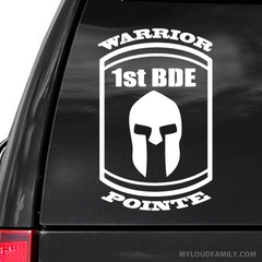 Warrior Pointe 1st  Decal Sticker
