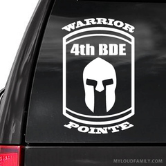Warrior Pointe 4th BDE Decal Sticker