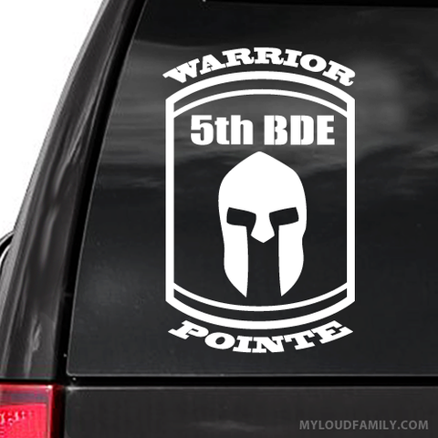 Warrior Pointe 5th BDE Decal Sticker