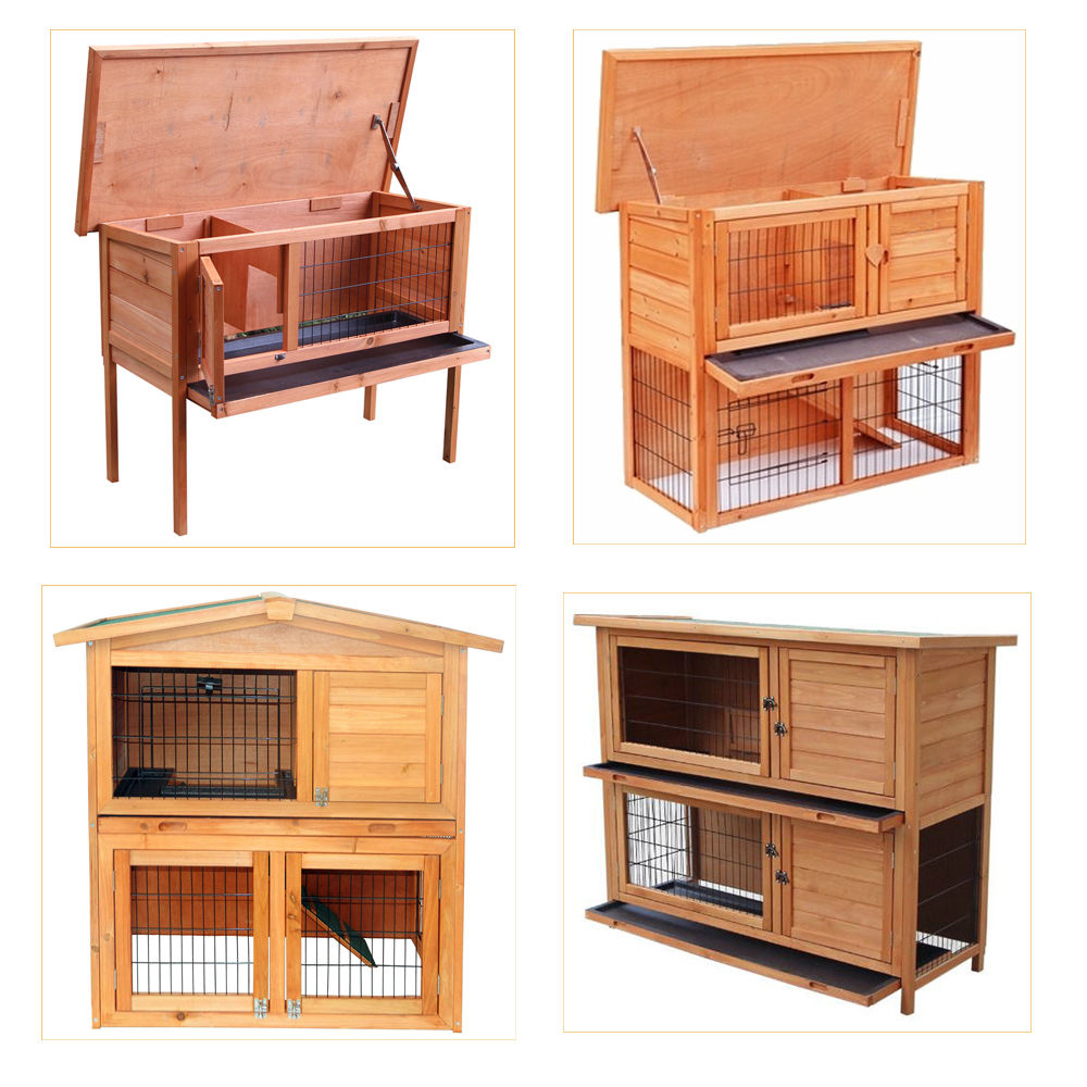 New 36 40 48 Wooden Hutch Chicken Coop Hen House Poultry Pet Cage