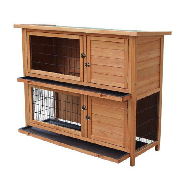 "New 36"" 40"" 48"" Wooden Hutch Chicken Coop Hen House Poultry Pet Cage"