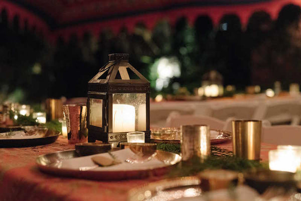 lekha lifestyle: indian tented family meal