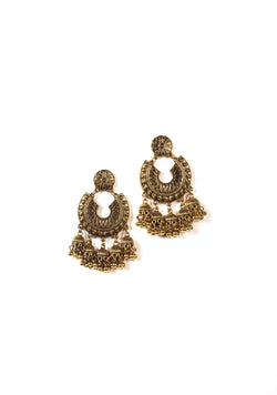 brass plated chandelier earrings