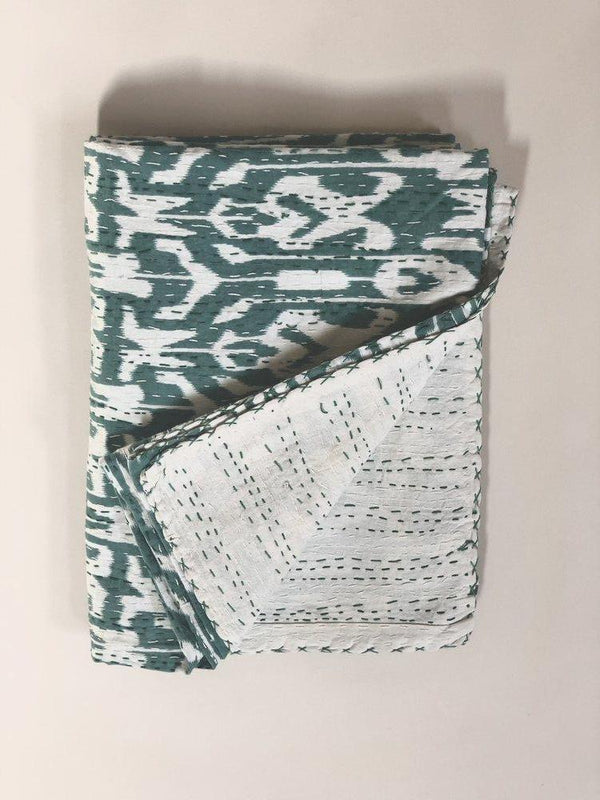 Ikat Kantha Throw