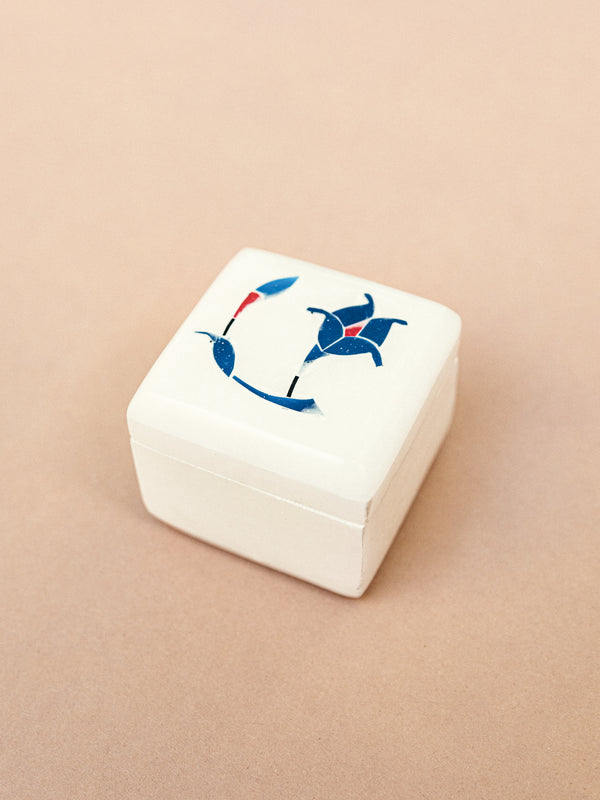white marble ring box
