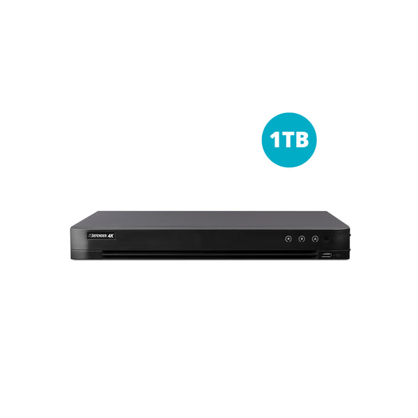 4K 4 Channel DVR with 1TB HDD