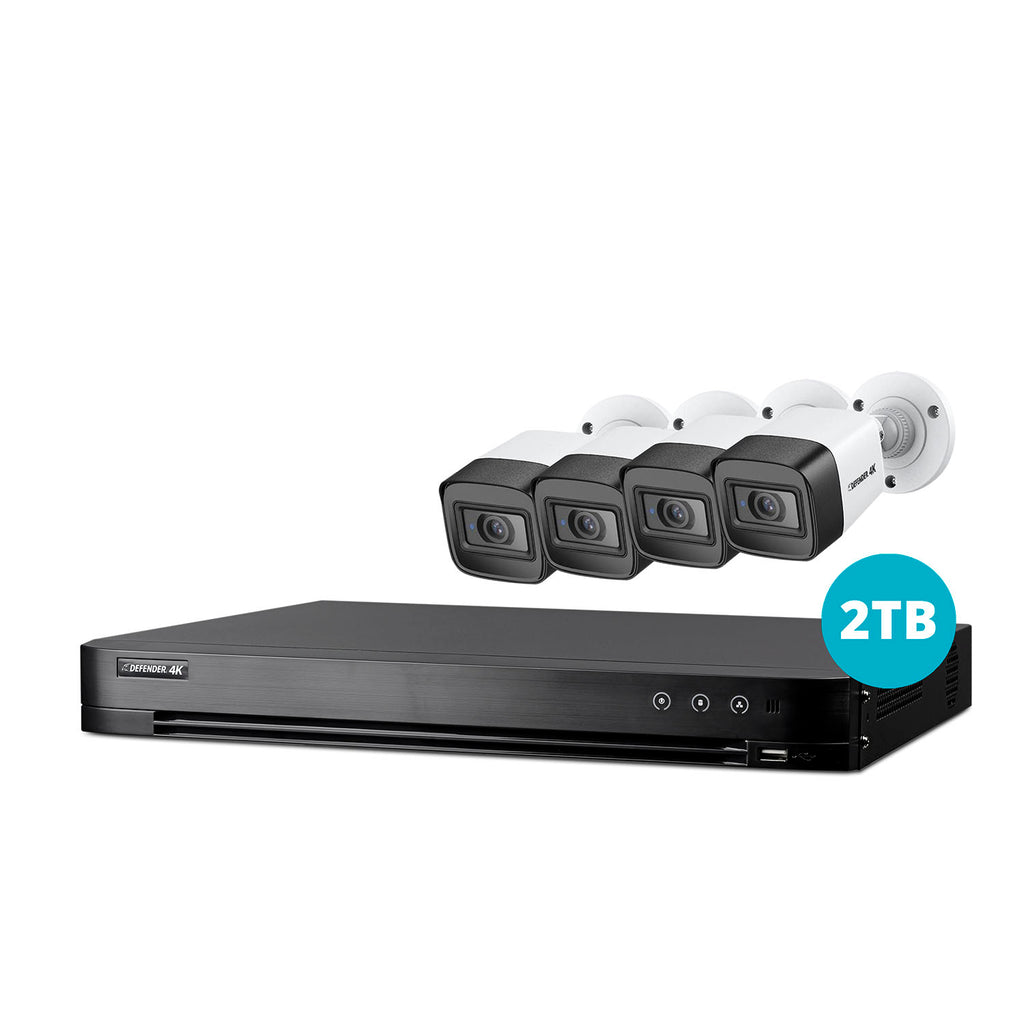 4K Ultra HD 2TB Security System with 4 Cameras