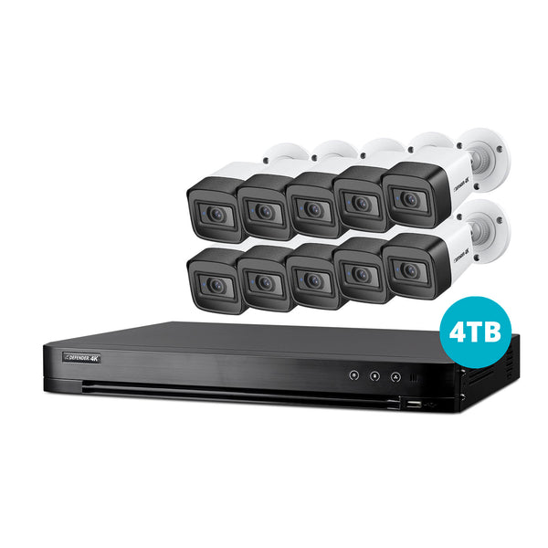 4K Ultra HD 4TB Security System with 10 Cameras
