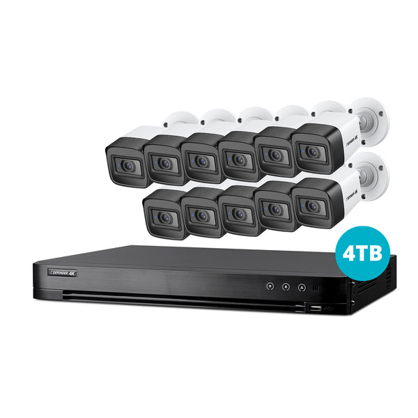 4K Ultra HD 4TB Security System with 11 Cameras
