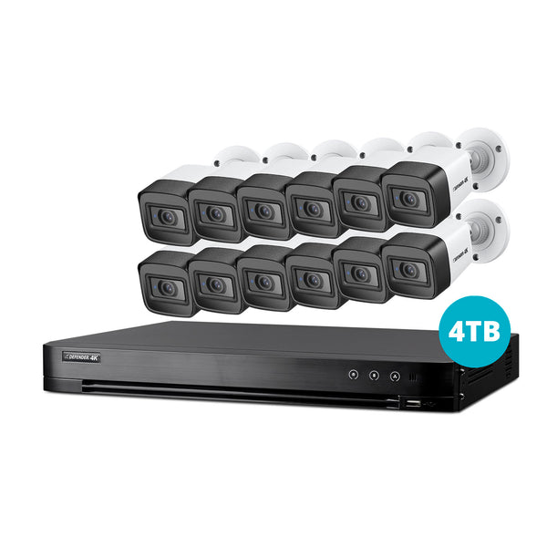 4K Ultra HD 4TB Security System with 12 Cameras