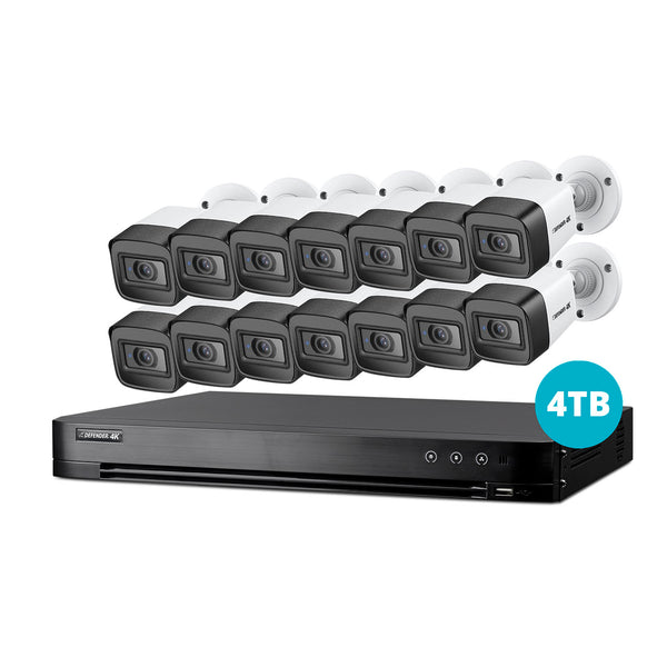 4K Ultra HD 4TB Security System with 14 Cameras