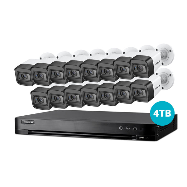 4K Ultra HD 4TB Security System with 15 Cameras