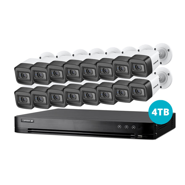 4K Ultra HD 4TB Security System with 16 Cameras