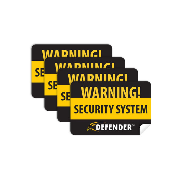 4x Window Warning Stickers