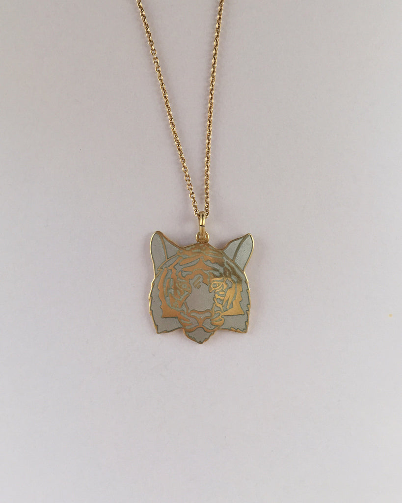 TIGER NECKLACE GOLDPLATED by Camilla Prytz