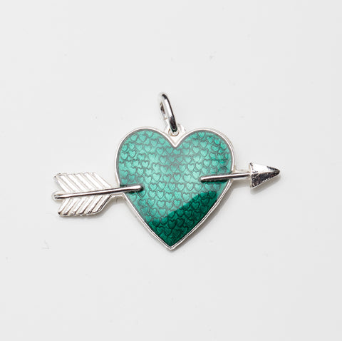 HEART WITH ARROW by Camilla Prytz green