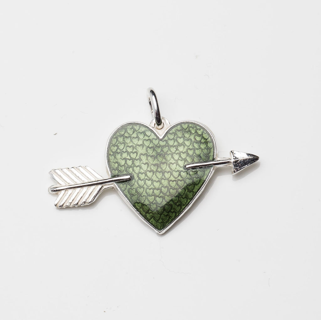 HEART WITH ARROW by Camilla Prytz army green