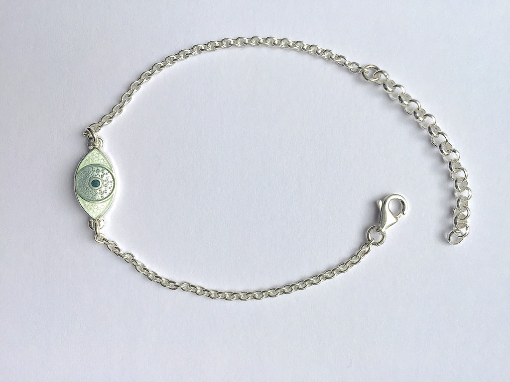 MINI THIRD EYE BRACELET light grey