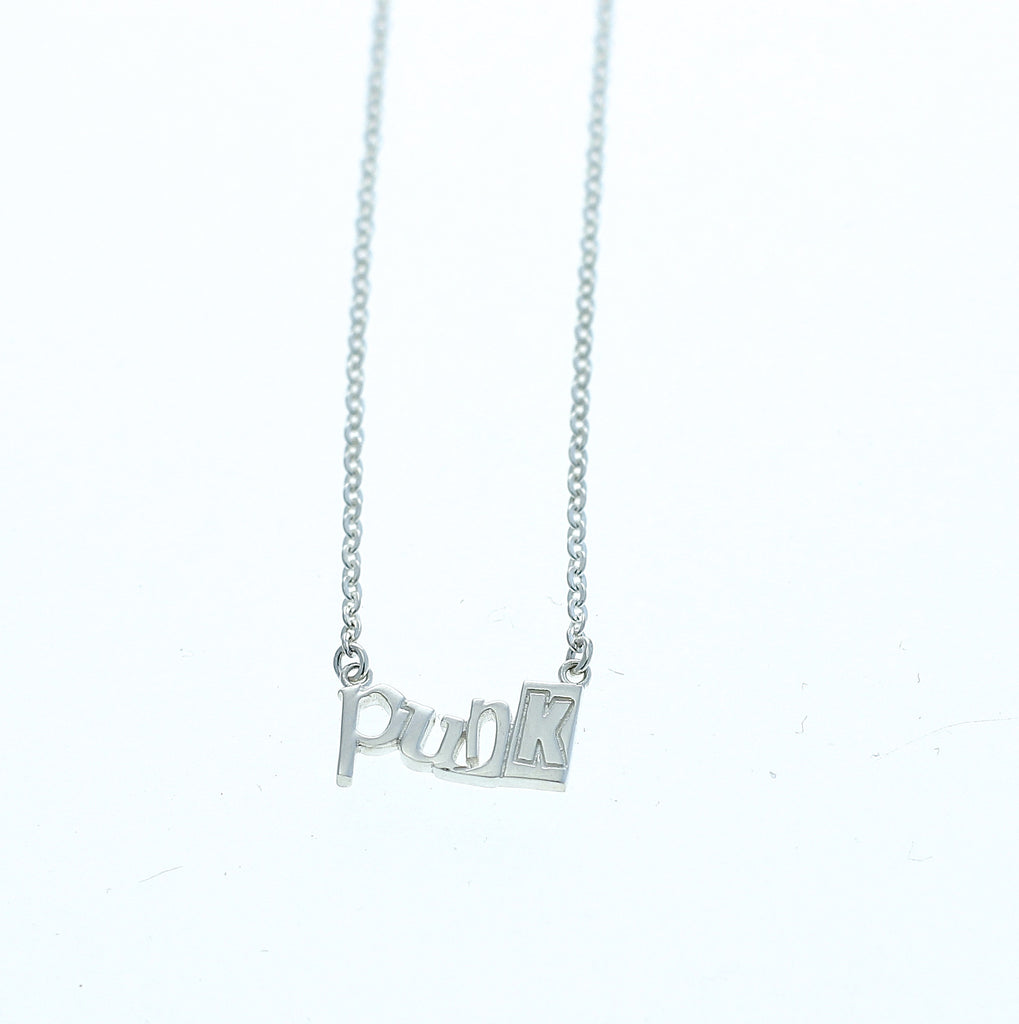 Punk necklace silver by Camilla Prytz Lux