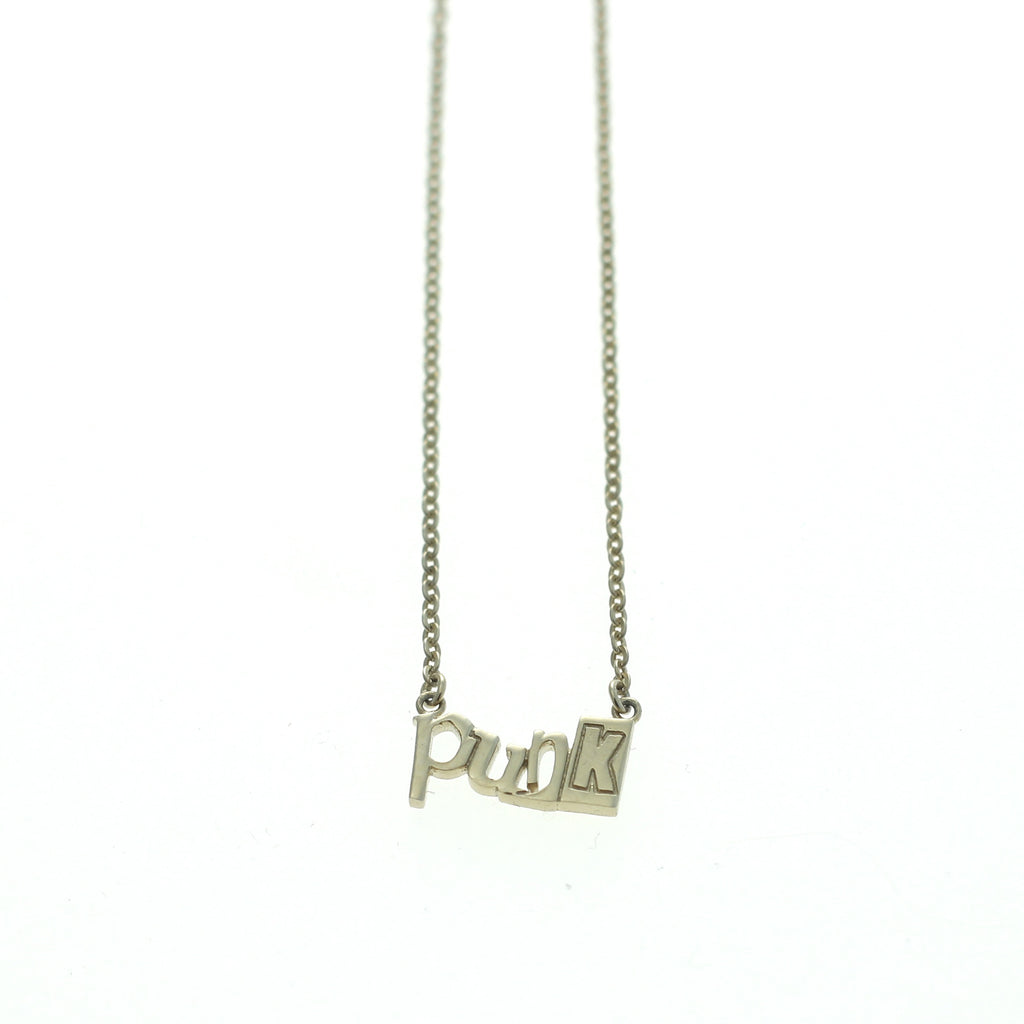 Punk necklace goldplated silver by Camilla Prytz Lux