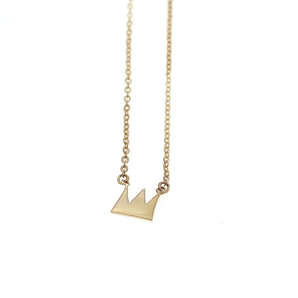 Crown necklace goldplated silver by Camilla Prytz Lux