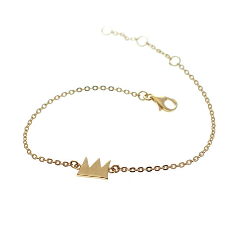 Crown bracelet goldplated silver by Camilla Prytz Lux