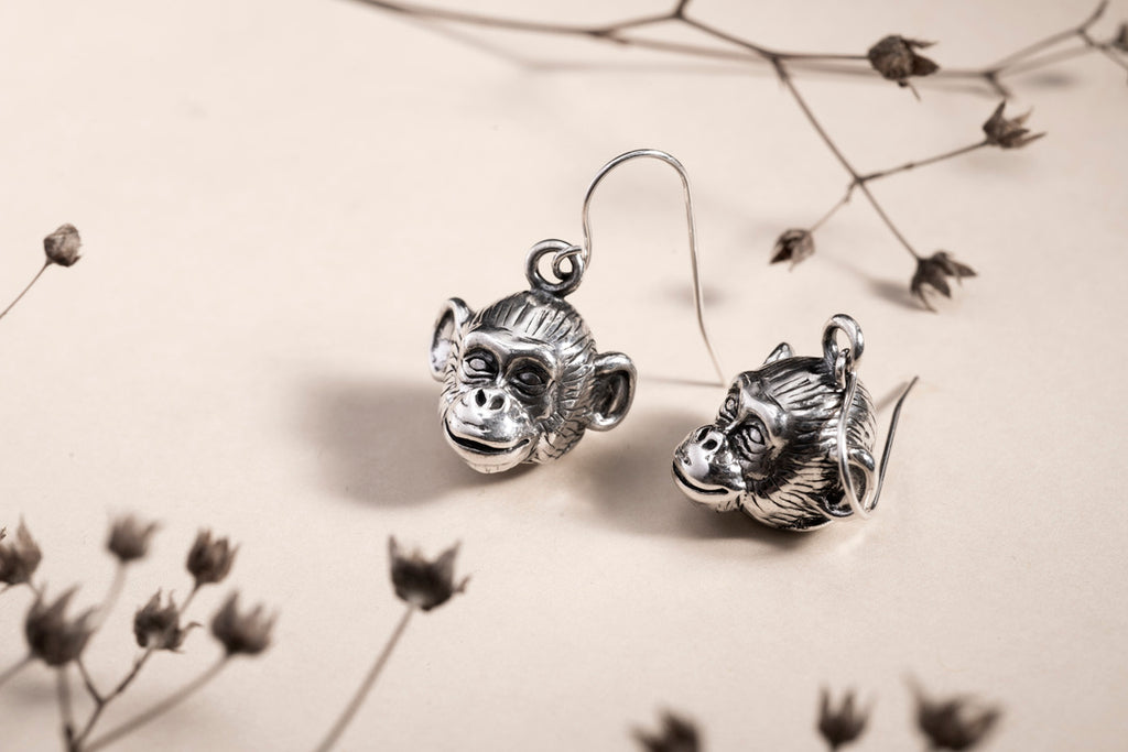Monkey earrings Camilla Prytz for Hillestad