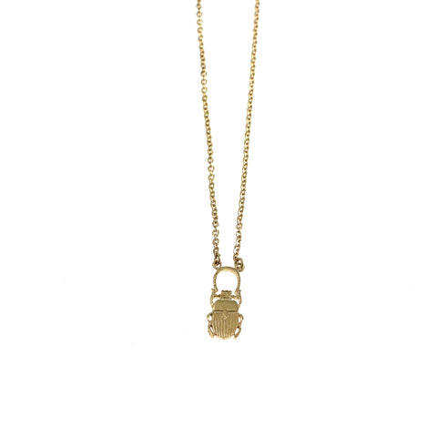 Lucky Bug / Lykkebille with horse shoe necklace goldplated silver by Camilla Prytz Lux