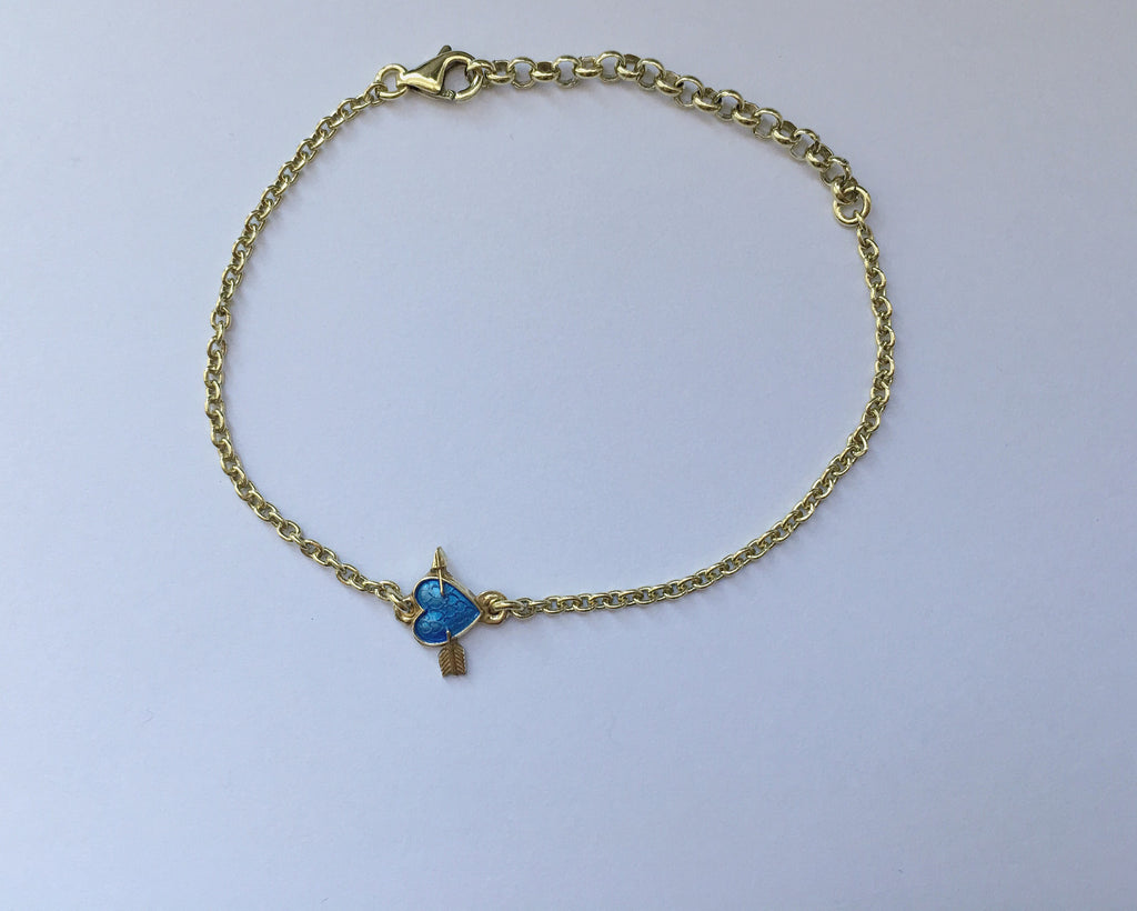 Mini heart with arrow bracelet GOLDPLATED