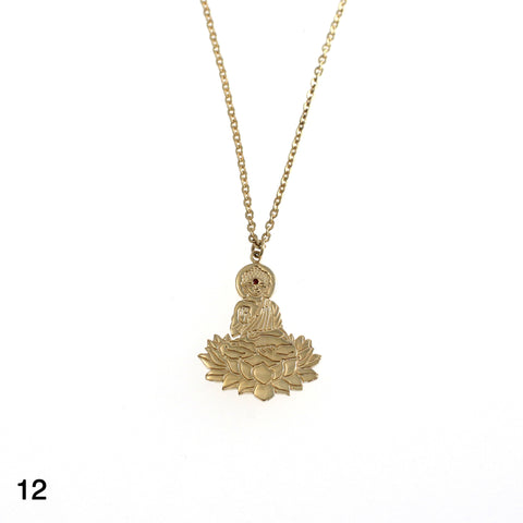 Shiva necklace goldplated silver by Camilla Prytz Lux