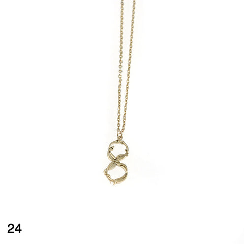Snakes Infinity necklace goldplated silver by Camilla Prytz Lux