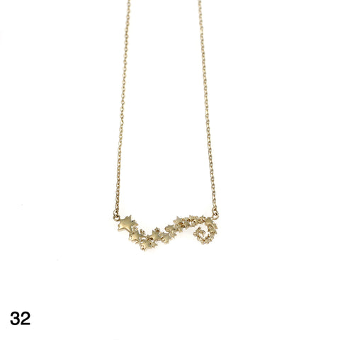 Stardust necklace goldplated silver by Camilla Prytz Lux